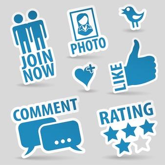 Establecer iconos de redes sociales