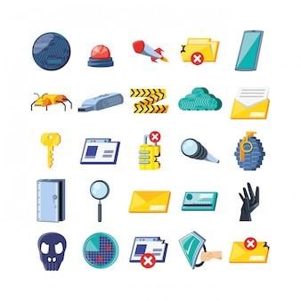 Establecer iconos de seguridad cibernética