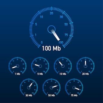 Establecer ilustración de prueba de velocidad.