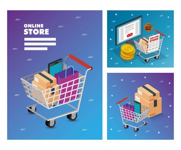 Establecer ilustración tienda online