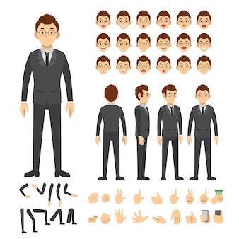 Establecer la ilustración de vector de personas de carácter