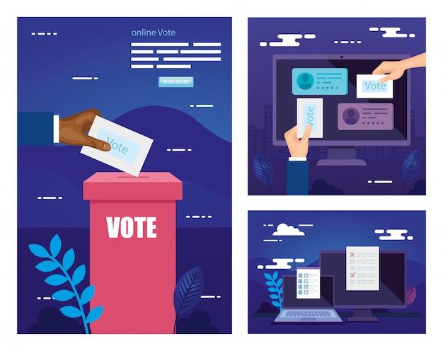 Establecer ilustración de voto