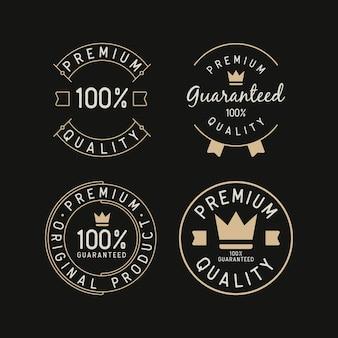 Establecer ilustraciones de diseño de sello de logotipo premium