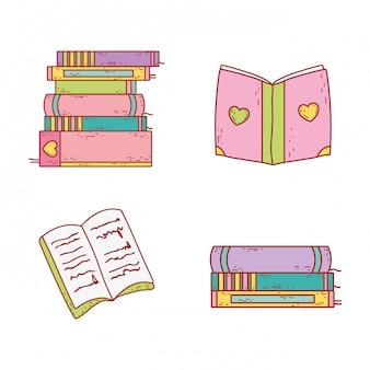 Establecer libros de educación para evento de celebración.