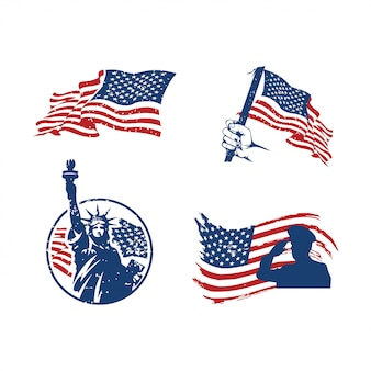 Establecer logo 4 de julio día de la independencia