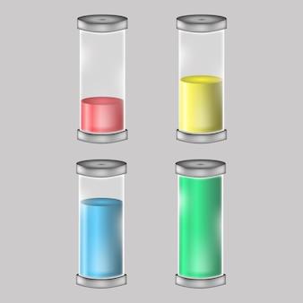 Establecer el logotipo de la batería ilustración de carga de energía