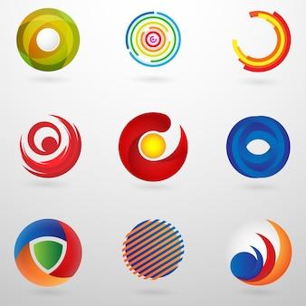 Establecer logotipo círculo abstracto con concepto moderno