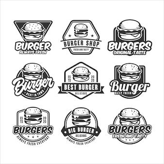 Establecer logotipo de hamburguesas