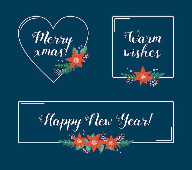 Establecer marcos navideños de diferentes formas
