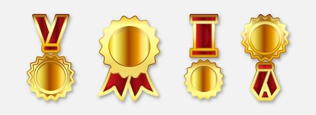 Establecer medalla realista