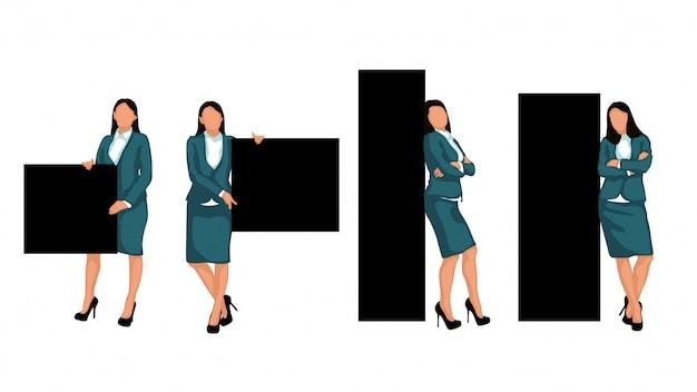 Establecer mujer de negocios