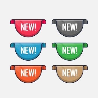 Establecer nuevas etiquetas de venta de colección, cintas de desplazamiento
