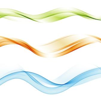 Establecer onda abstracta ola transparente resumen de borde