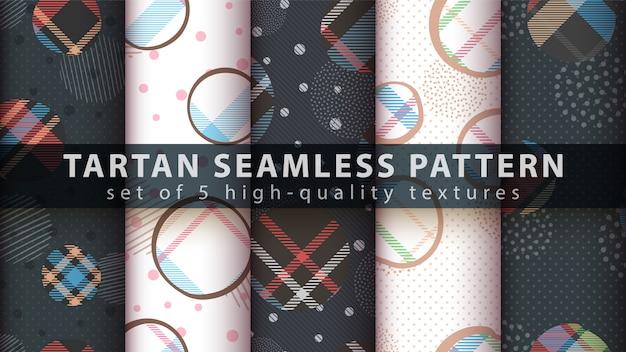Establecer patrón transparente tartán clásico