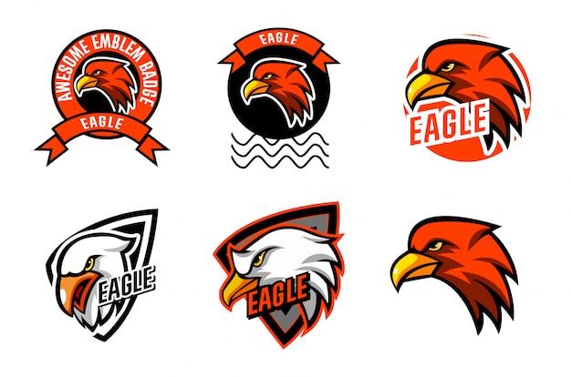 Establecer plantilla de logotipo de eagle head