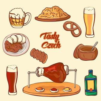 Establecer platos nacionales checos
