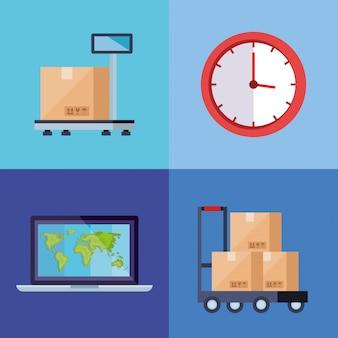 Establecer póster de servicio logístico de entrega