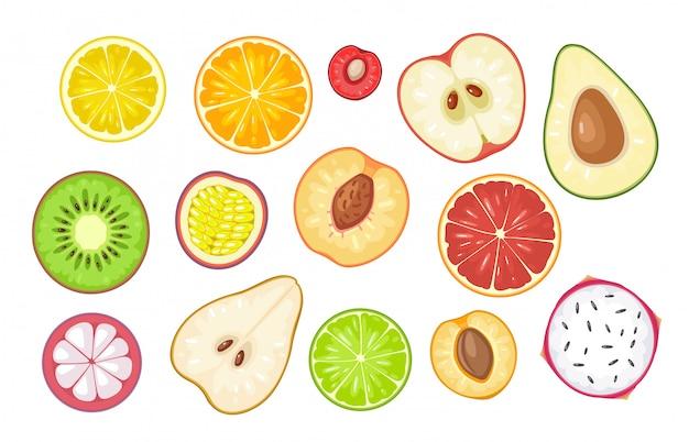 Establecer rodajas de frutas.
