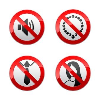 Establecer signos prohibidos - oficina