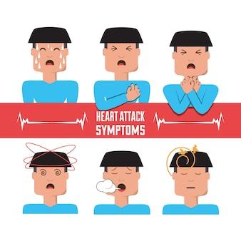 Establecer síntomas de ataque al corazón del hombre