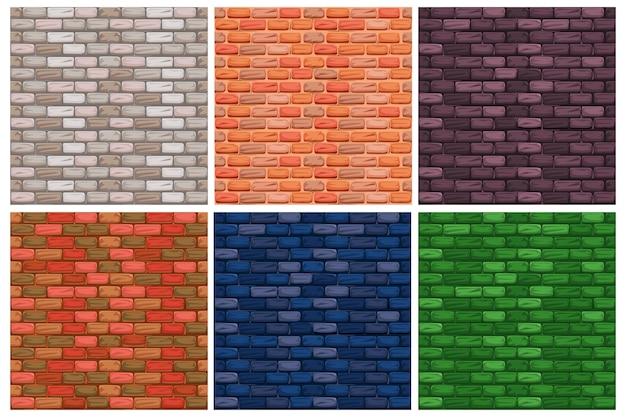 Establecer texturas de ladrillo de color