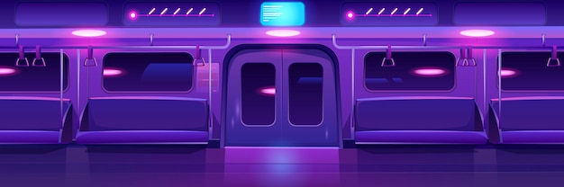 Estación de metro, plataforma de metro vacía, metro