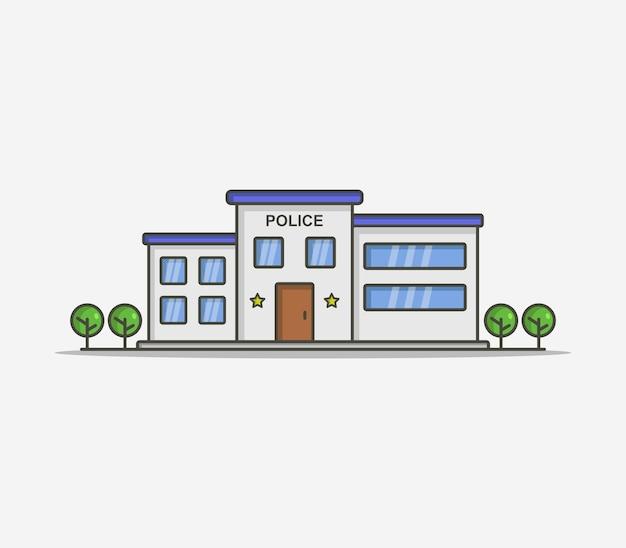 Estación de policía ilustrada