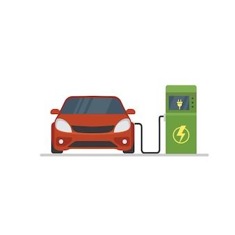 Estación de recarga de vehículos eléctricos.