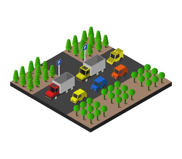 Estacionamiento isométrico