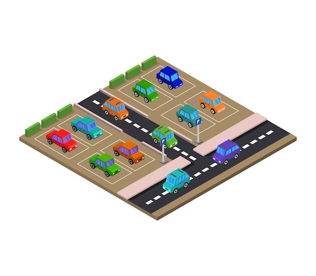 Estacionamiento isometrico