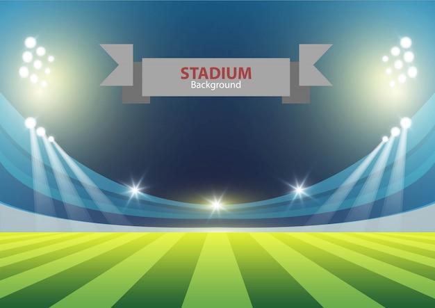Estadio deportivo con luces