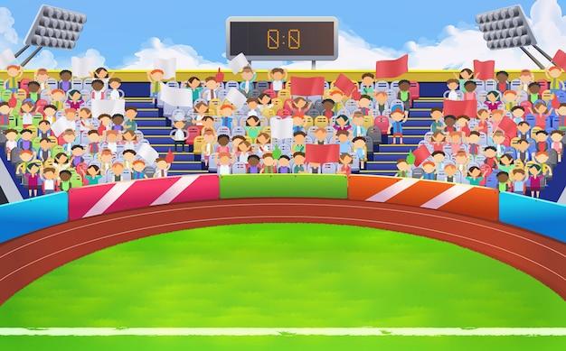 Estadio, fondo de arena deportiva