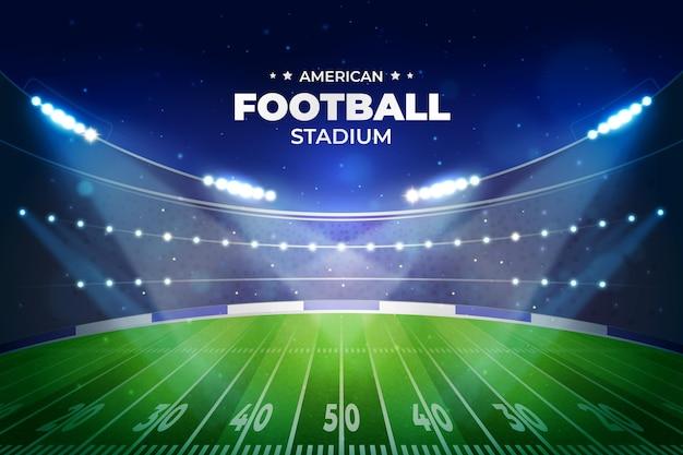 Estadio de fútbol americano realista