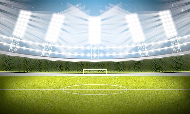 Estadio de fútbol. arena de fútbol. ilustración.