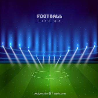 Estadio de fútbol en estilo realista