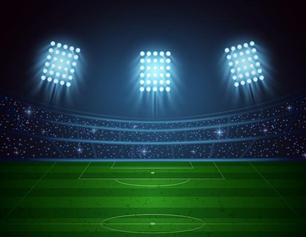 Estadio de fútbol. ilustración vectorial