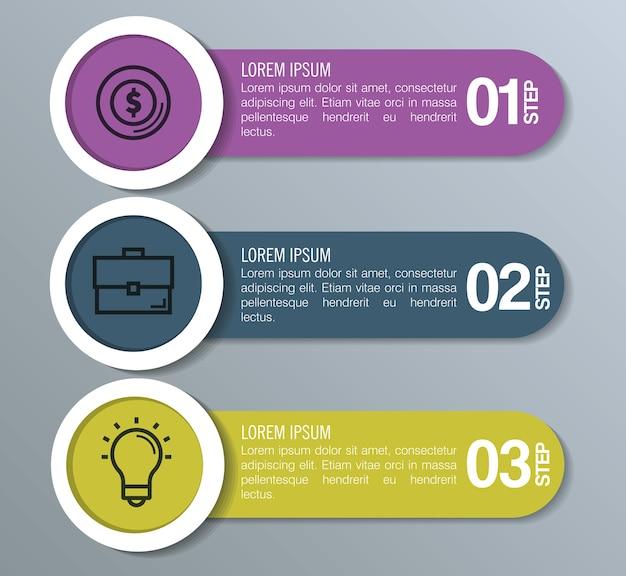 Estadísticas de infografía con elementos de negocios