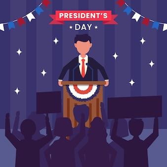 Estados unidos de américa, concepto del día del presidente.