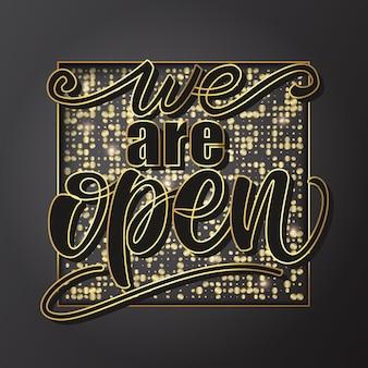 Estamos abiertos diseño de banner.