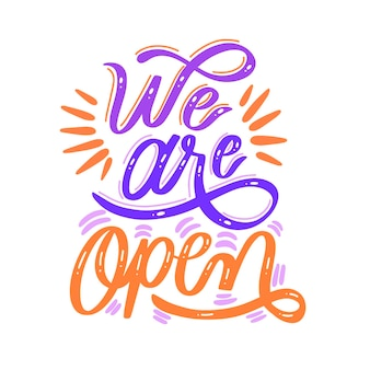 Estamos abiertos nuevamente letras