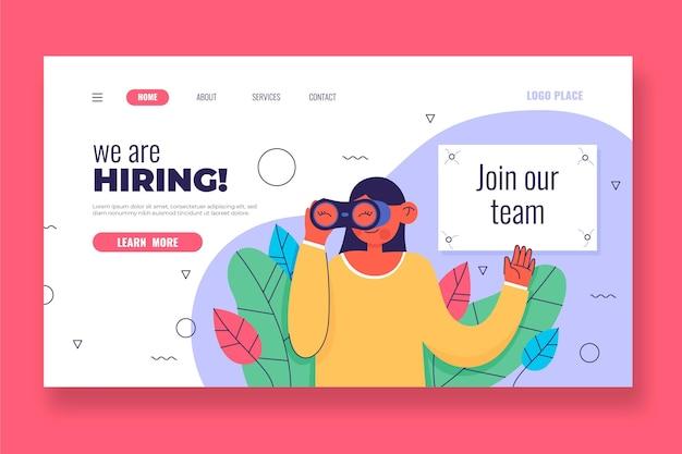 Estamos buscando empleados para la página de inicio de los trabajadores