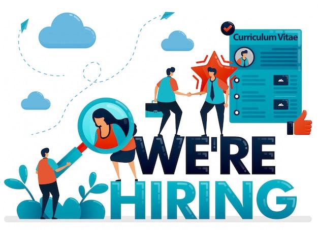 Estamos contratando carteles con perfil de curriculum vitae para solicitar trabajo.