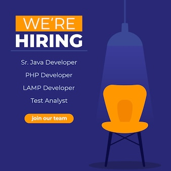Estamos contratando desarrolladores de software, únete a nuestro banner de equipo
