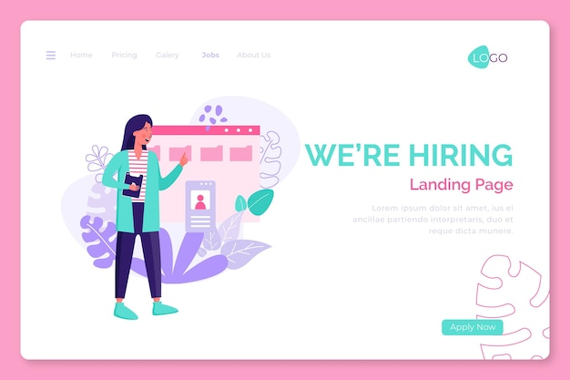 Estamos contratando landing page