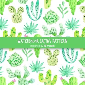 Estampado de cactus en acuarela
