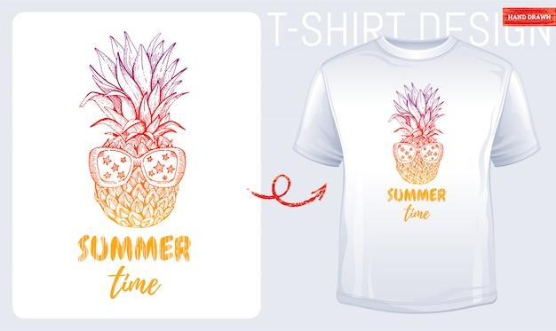 Estampado de camiseta de verano