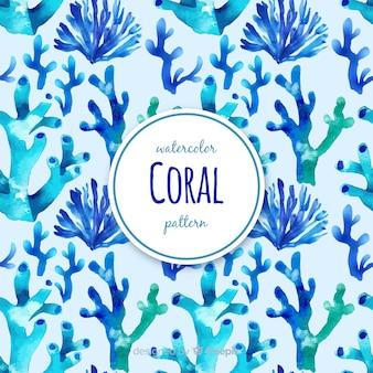 Estampado de corales en acuarela