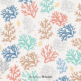 Estampado de corales