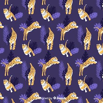 Estampado dibujado de tigre salvaje