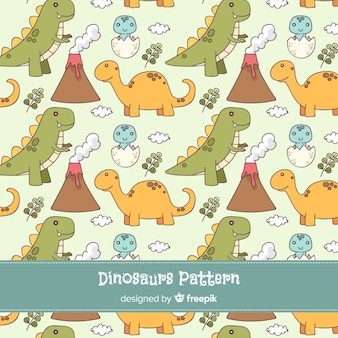 Estampado de dinosaurio dibujado a mano
